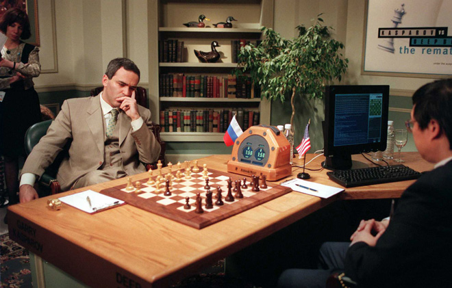 Rookie move: Gary Kasparov losing to IBM